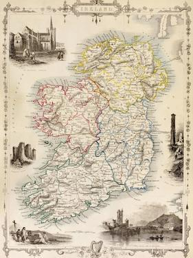 Map of Ireland from 'The History of Ireland' by Thomas Wright, Published C.1854