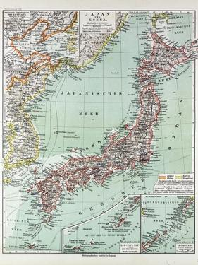 Map of Japan 1899