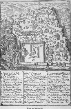 Map of Jerusalem During Ibn Batuta's Travels