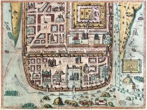 Map of Jerusalem from Civitates Orbis Terrarum