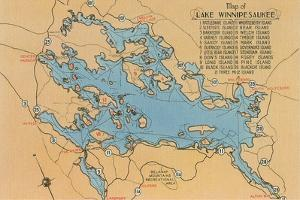 Map of Lake Winnipesaukee, New Hampshire