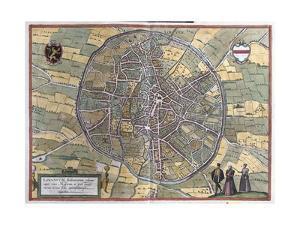 Map of Leuven from Civitates Orbis Terrarum
