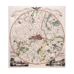 Map of London, 1798 by E Bourne