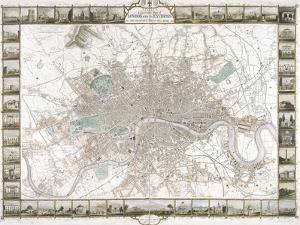 Map of London, 1851 by J Rapkin