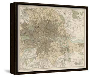 Map of London and Its Suburbs by J Bartholomew