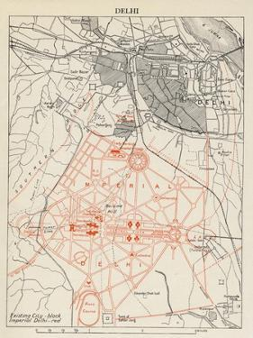 Map of Lutyens' projected Imperial Delhi, 1910-12