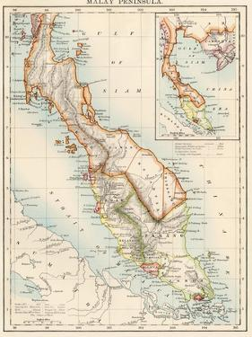Map of Malay Peninsula, 1870s