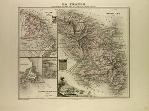 Map of Martinique French Guiana and Terra Nova 1896