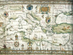 Map of Mediterranean and Black Sea, 1654