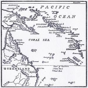 Map of Melanesia, 1908