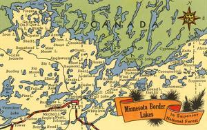 Map of Minnesota Border Lakes