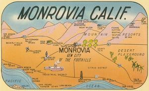 Map of Monrovia, California