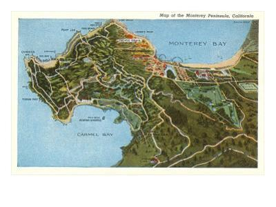 Map of Monterey Peninsula, California