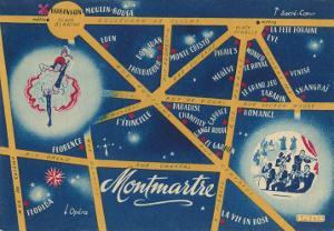 Map of Montmartre, Paris