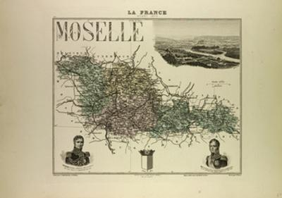 Map of Moselle 1896, France
