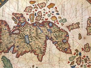 Map of New Caledonia, from Nautical Atlas by Giorgio Sideri Called Callapoda