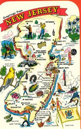 Map of New Jersey with Attractions
