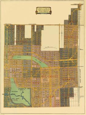 Map of North Coral Gables, 1926