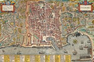 Map of Palermo from Civitates Orbis Terrarum