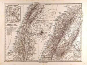 Map of Palestine, 1875