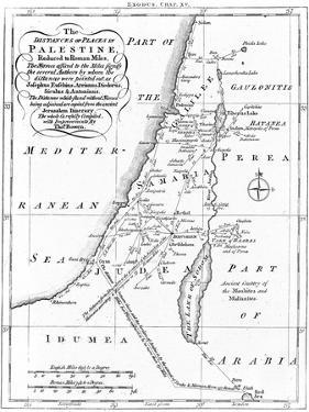 Map of Palestine Based on Ancient Authors, C1830