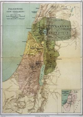 Map of Palestine During New Testament Times