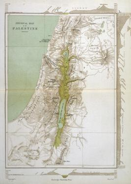Map of Palestine in Biblical Times