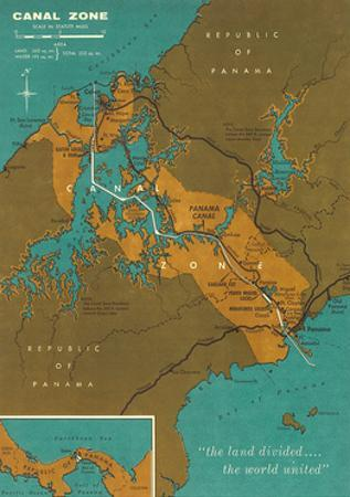 Map of Panama Canal Zone