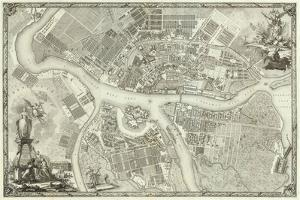 Map of Petersburg (Book to the 50th Anniversary of the Founding of St. Petersbur), 1753