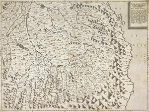 Map of Piedmont Region, Venice, 1567