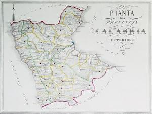 Map of Province of Calabria Citerior or Latin Calabria, Province of Cosenza