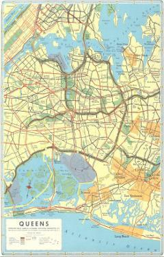 Map of Queens, New York