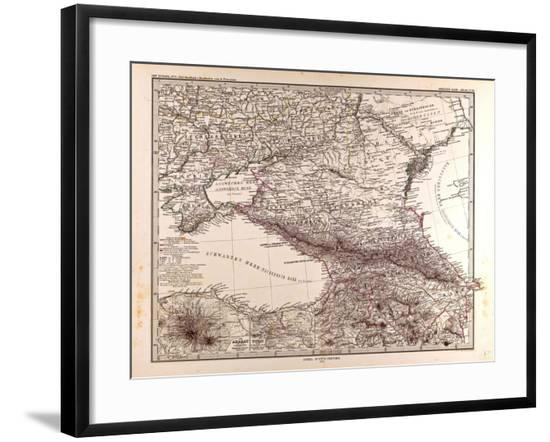 Map of Russia, 1873--Framed Giclee Print