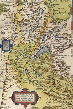 Map of Savoie, from Theatrum Orbis Terrarum, 1528-1598, Antwerp, 1570