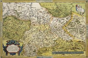 Map of Saxony, from Theatrum Orbis Terrarum, 1528-1598, Antwerp, 1570