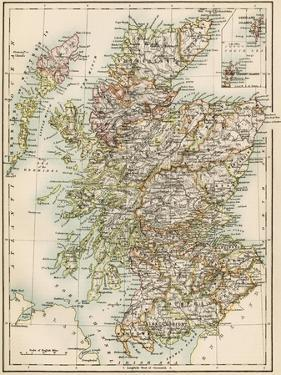 Map of Scotland, 1870s