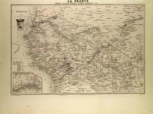 Map of Senegal Sudan and Guinea 1896