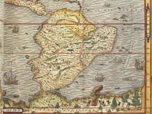 Map of Southern America from Cosmographie by Andre Thevet, 1502-1590