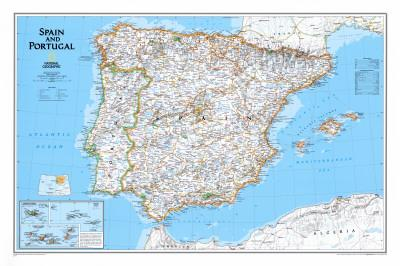 Maps of Spain Posters for sale at AllPosterscom