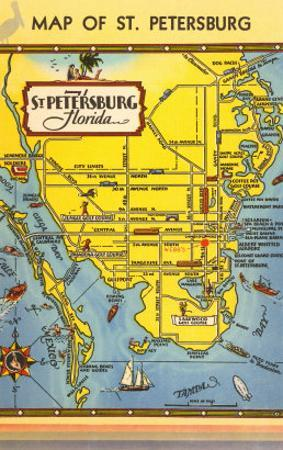 Map St Petersburg Florida.Affordable St Petersburg Fl Posters For Sale At Allposters Com