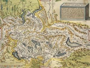 Map of Switzerland, from Theatrum Orbis Terrarum, 1570