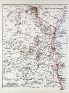Map of Tanzania Kilimanjaro, 1899
