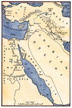 Map of the Ancient Near East, Birthplace of Civilization
