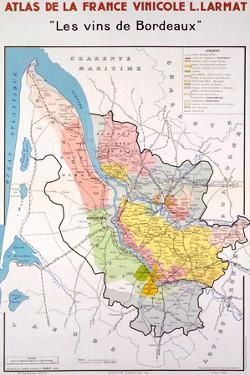 Map of the Bordeaux Region