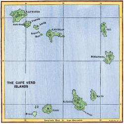 Affordable Maps of Cape Verde Posters for sale at AllPosters.com