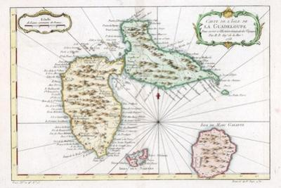 Map of the Caribbean Island of Guadeloupe, C1764