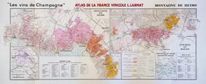 Map of the Champagne Region: Montagne De Reims and Eperon De Bouzy