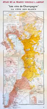 Map of the Champagne Region: the Côte Des Blancs