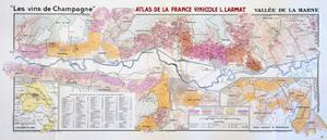 Map of the Champagne Region: Valley of the Marne