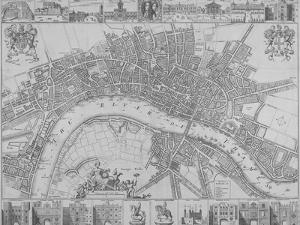 Map of the Cities of London and Westminster and Southwark, 1690